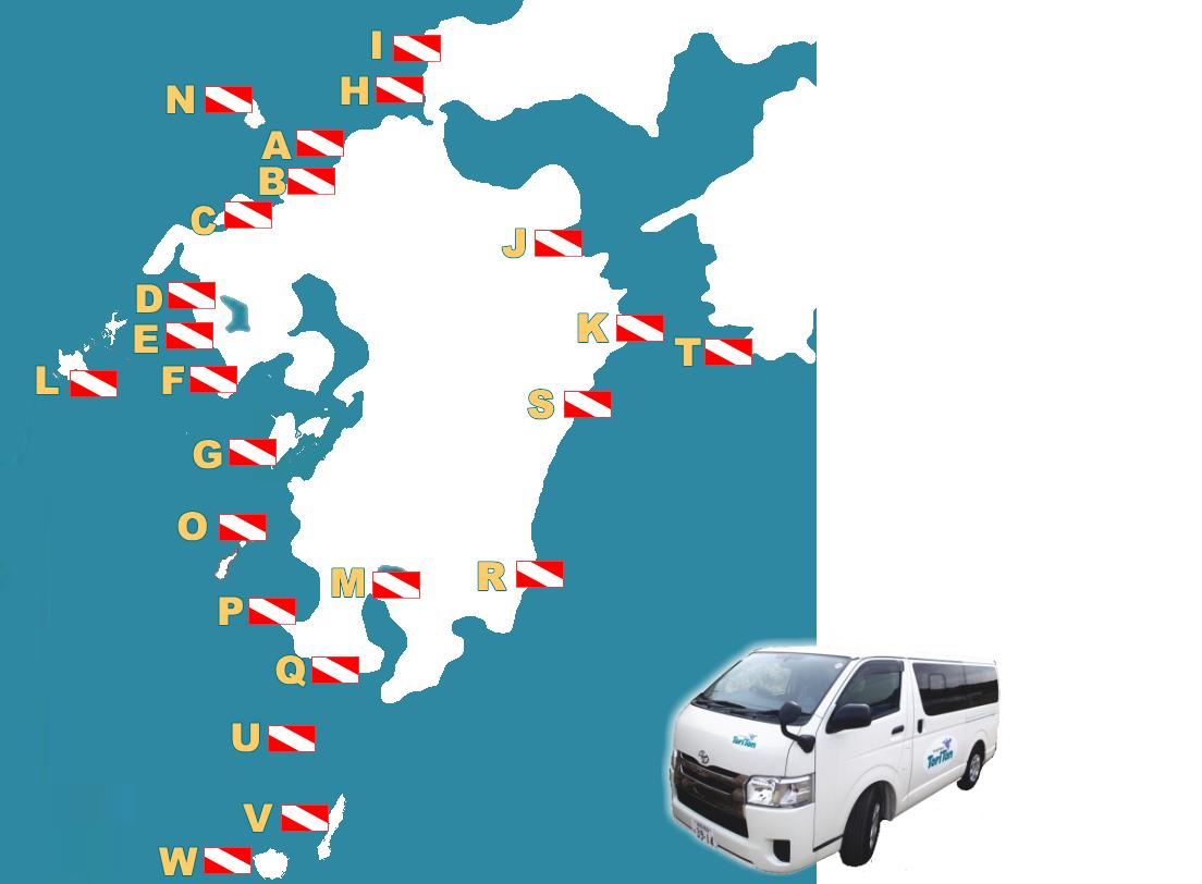 九州山口 ツアー地MAP